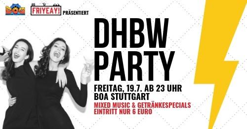 19.07.19 DHBW Party – ab 23 Uhr Boa
