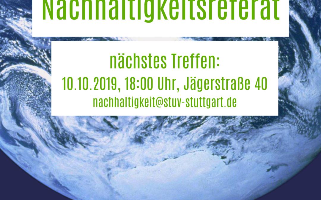 Klimakrise?! Jetzt handeln! Komm zum Nachhaltigkeitsreferat der StuV Stuttgart!